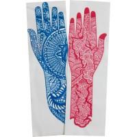 Трафарет для мехенди рука